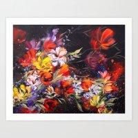 Black Blossom Art Print