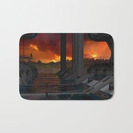 Drevos - Sci Fi - Sunset - Science Fiction - ZG 3D Bath Mat