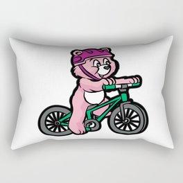 TEDDY BEAR MOUNTAIN BIKE Rectangular Pillow