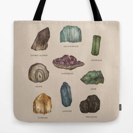 Gems and Minerals Tote Bag