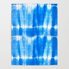 Tie Dye in Blue Poster