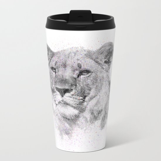 Leo Just Wants To Have Fun Metal Travel Mug