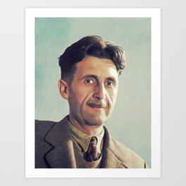 George Orwell, Literary Legend Art Print