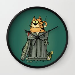 Stray cat Wall Clock