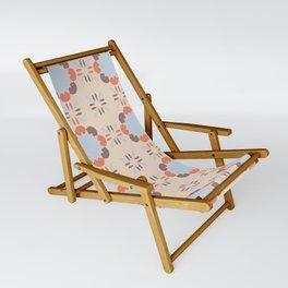 Blue Retro Tile Sling Chair