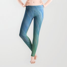 Greens and Blue Leggings
