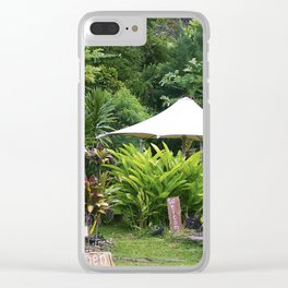 Fruit Stand in Tropical French Polynesia Clear iPhone Case