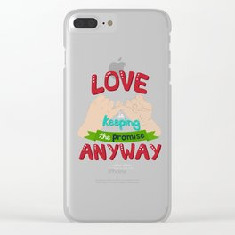 Love is... Clear iPhone Case