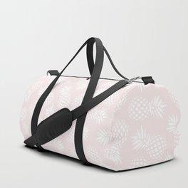Pineapple pattern on pink 022 Duffle Bag