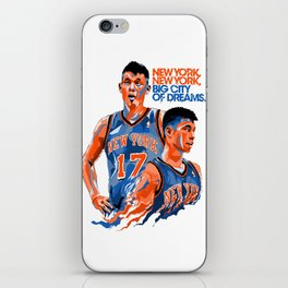 Jeremy Lin: New York, New York, Big City of Dreams. iPhone Skin
