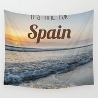 spain Wall Tapestries featuring Time for spain by Solar Designs