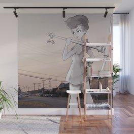 Pickaxe Girl Wall Mural