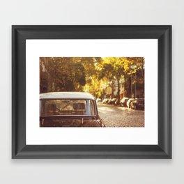 Autumn streets Framed Art Print