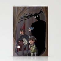 over the garden wall Stationery Cards featuring Over The Garden Wall by Dimension Bound