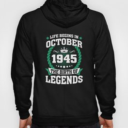October 1945 The Birth Of Legends Hoody