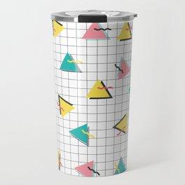 Geometric 80s Vibe Pattern Travel Mug