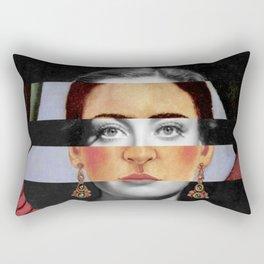 Frida Kahlo's Self Portrait Time Flies & Joan Crawford Rectangular Pillow