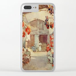 Cane, Ella du (1874-1943) - The Banks of the Nile 1913, The Shoe Bazaar, Cairo Clear iPhone Case