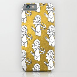 Cupid Shooting Love Gold iPhone Case