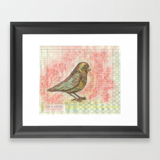 Bird on a Budget Framed Art Print
