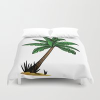 palm tree Duvet Covers featuring palm tree by Li-Bro