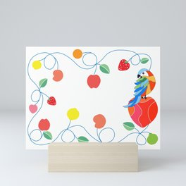 Kitchen hybrid macaw Mini Art Print