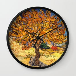 The Mulberry Tree by Vincent van Gogh Wall Clock