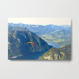 Paraglider above the Austrian Alps 2 Metal Print