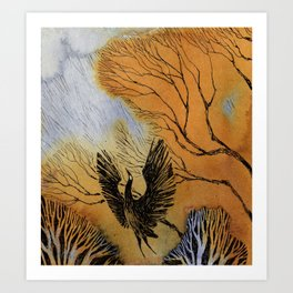 Black Heron Art Print