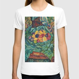 Still life with fruits, jug and small sculpture by Helene Funke T-shirt