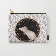 Beautiful nosey Mouse with flower backround- Animal- child - mice- flowers Carry-All Pouch