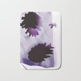 Photogram, pine cones, negative ultra violet Bath Mat