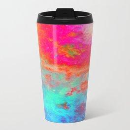 Galaxy : Bright Colorful Nebula Metal Travel Mug