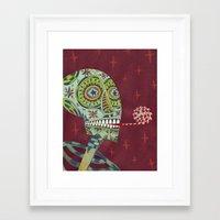 happy birthday Framed Art Prints featuring Happy Birthday by Santiago Uceda