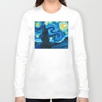 starry night Long Sleeve T-shirts featuring Starry Starry Night by Jade Cohen
