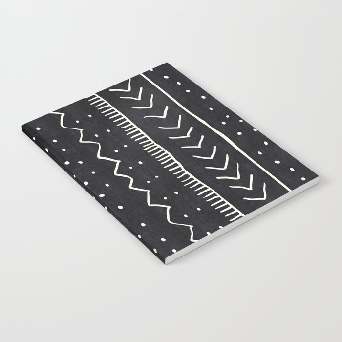 Moroccan Stripe in Black and White Notebook