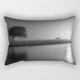 A Foggy Night Rectangular Pillow