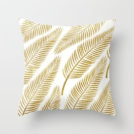 Golden Palm #society6 #decor #buyart Throw Pillow