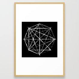Octagon Diagonals Framed Art Print