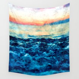 Sea And Sunset Wall Tapestry
