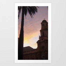 Plaza de Armas, Santiago, Chile Art Print