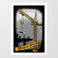 The Power Of Tower Crane Art Print