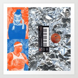 Carmelo Anthony & Grimes Blind Date Rainforest Cafe Leftovers 2014 Art Print