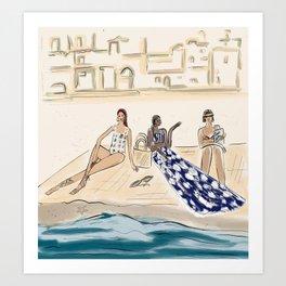 Beach Day in Latin Style Art Print