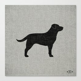 Black Labrador Retriever Silhouette Canvas Print