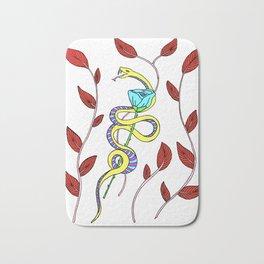 Serpent and a Rose Bath Mat