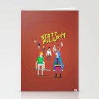scott pilgrim Stationery Cards featuring Pixel Art Scott Pilgrim by LoweakGraph