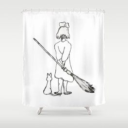Believe in Yourself (Kiki) - Sketch Shower Curtain
