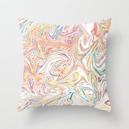 Paint smears Throw Pillow