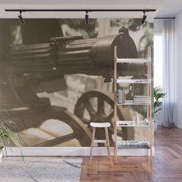 Old machine Gun. Maxim gun. First World War Machine gun. Wall Mural